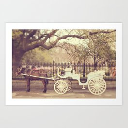 New Orleans Carriage Ride Art Print