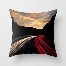 timelapse car red Throw Pillow