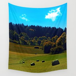 The battle of bales Wall Tapestry
