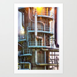 Oil Refinement Art Print