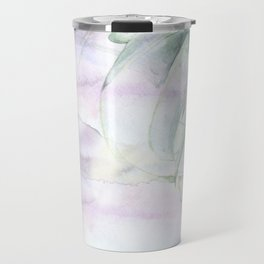 Air plant with watercolor was background Travel Mug