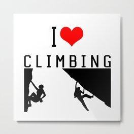 I Love Climbing - Sport Climb Climbing Climber Boulder Metal Print