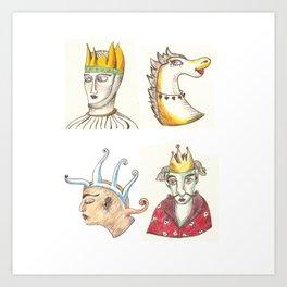 Four Faces Art Print