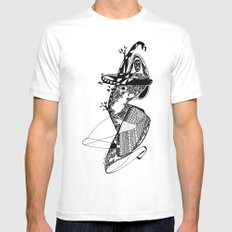 Dance with me - Emilie Record White Mens Fitted Tee MEDIUM