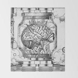 Mother Brain Super Metroid Engraving Scene Throw Blanket