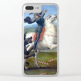 """Raffaello Sanzio da Urbino """"Saint George and the Dragon"""", 1503 - 1505 Clear iPhone Case"""