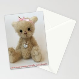 Chicago Teddy bear quote Stationery Cards