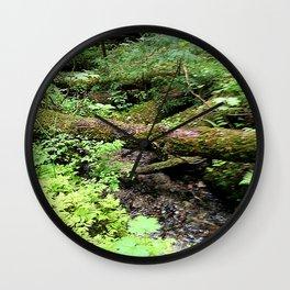 Creek and trunk crossing Wall Clock