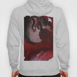strange visions 24, acrylic abstract painting, red, black, white Hoody