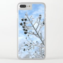 Frozen Branches Clear iPhone Case