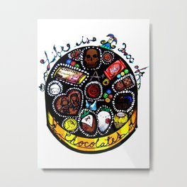 Life is a Box of Chocolates Metal Print