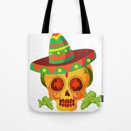 Skull Beard Cinco De Mayo Funny Tote Bag