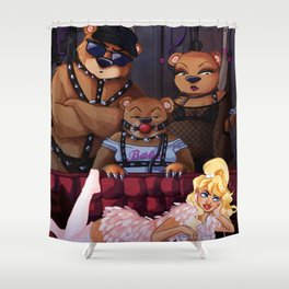 Goldiloxxx and the Three Bears Shower Curtain