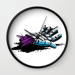 Lost android hand Wall Clock