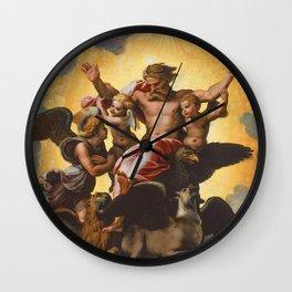 "Raffaello Sanzio da Urbino ""Ezekiel's Vision"", 1518 Wall Clock"