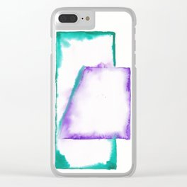 180914 Minimalist Geometric Watercolor 5 Clear iPhone Case