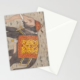 Vintage Decorated Elephant Painting (17th Century) Stationery Cards