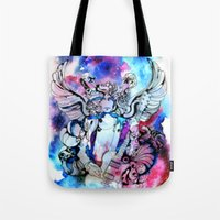 marc Tote Bags featuring Marc Bolan - Cosmic Dancer by FlowerMoon Studio