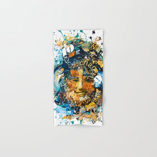the woman's face #1 Hand & Bath Towel