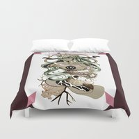 tarot Duvet Covers featuring Star Tarot by A Hymn To Humanity