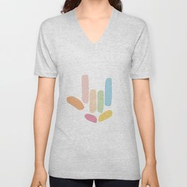 I Love You Abstract Hand Sign Unisex V-Neck