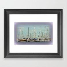 Flotilla of Yachts  Framed Art Print