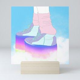 STEPPING WITH RAINBOW Mini Art Print
