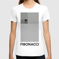 fibonacci T-shirts featuring Fibonacci squares by Solar Designs