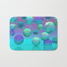 Ocean Dreams - Aqua and Indigo Ocean Universe Bath Mat
