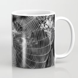 Morning Dew On Spiders Home Coffee Mug