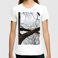 wooden T-shirts featuring Wooden Crossing by Julie Maxwell