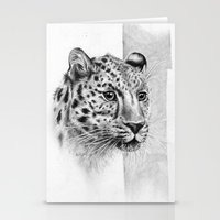 leopard Stationery Cards featuring Leopard by Anna Tromop Illustration