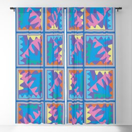Mountain Puzzles Pastel Blackout Curtain