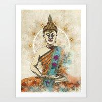 meditation Art Prints featuring Meditation by April Gann