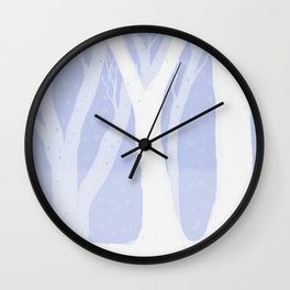 Magical Forest Winter Wall Clock