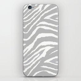 ZEBRA GRAY AND WHITE ANIMAL PRINT 2019 iPhone Skin
