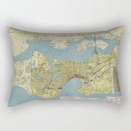 Port Of Seattle 1918 Rectangular Pillow