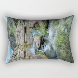 Tryfan Mountain Stream  Rectangular Pillow