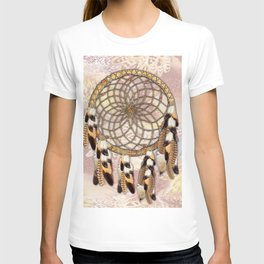 Pelican or Hawk Feather Dream catcher T-shirt