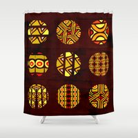 planets Shower Curtains featuring africa planets by d.ts