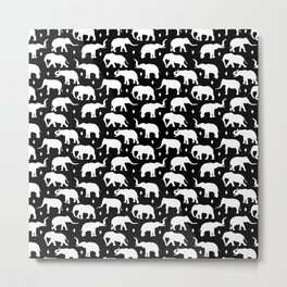 White Elephants Metal Print