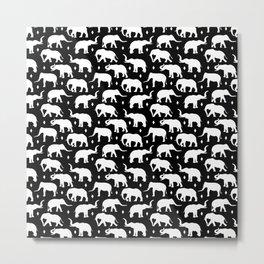 White Elephants Metal Print