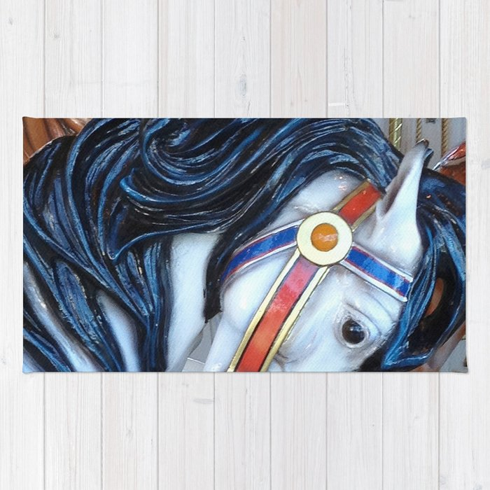 Carousel Horses Carnival Merry Go Round Horses Rug By Kathyfornal