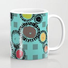 Wedge Circle Tuquroise Ground Coffee Mug