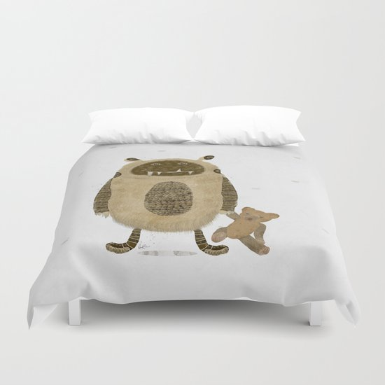 monster and bear Duvet Cover