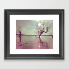 Peaceful Lake! Framed Art Print