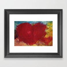 Blood Red Love Framed Art Print