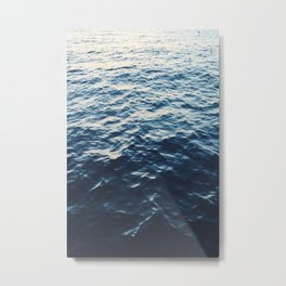 SEA - OCEAN - DARK - WAVES Metal Print