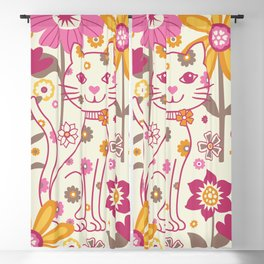 Garden Cat Blackout Curtain