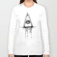 all seeing eye Long Sleeve T-shirts featuring All Seeing Eye  by Emalee Røse